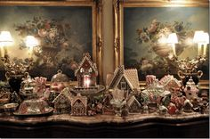 AMAZING Gingerbread House Display