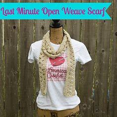 last Minute Open Weave Scarf pattern by American Crochet