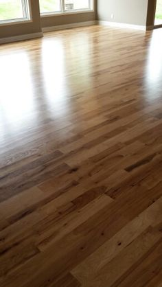 Wood floors in  natural hickory