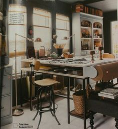 The designers of our 2012 House of the Year created an elevated desk by  topping two desks with a