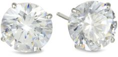 Madison Avenue Collection 10k White Gold Swarovski Zirconia Studs (3 cttw) Amazon Curated Collection. $35.00. All Madison Avenue Swarovski Zirconia pieces are laser inscribed to guarantee quality and authenticity.. Made in United States