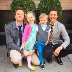 @ActuallyNPH: Happy Easter from the Burtka-Harris bunnies and one lil' chick!