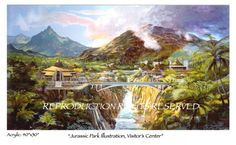 Concept Art for the Jurassic Park Visitor's Center Complex