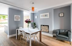 Ideas kitchen open plan living victorian terrace for 2019 Kitchen Wall Colors, Kitchen Wall Art, Kitchen Decor, Kitchen Ideas, Open Plan Kitchen Living Room, Open Plan Living, Diy Wood Countertops, Kitchen Layouts With Island, Rustic Kitchen Cabinets