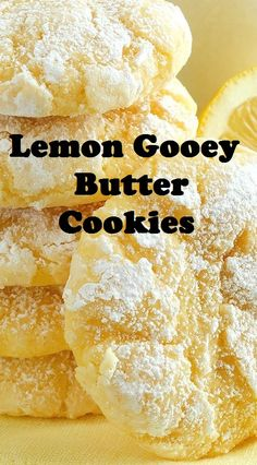Lemon Gooey Butter Cookies