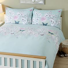 by Sainsbury's Embroidered Butterfly Print Duvet Cover Set