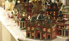 lighted houses