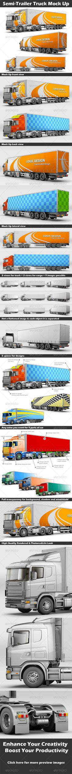Buy Semi-Trailer Truck Mock Up by Logic_Design on GraphicRiver. Semi-Trailer Truck Mock Up Description A professional Semi-Trailer Truck Mock Up. Semi Trailer Truck, Logic Design, Road Train, Light Reflection, Nature Pictures, Car Parts, 3 D, The Incredibles, Trucks