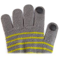 Conductive silicone pads that allow you to text or use your touch screen devices without taking off your gloves.  $9.99