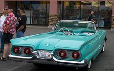 1959 Ford Thunderbird convertible with top down – turquoise – rvr – En Güncel Araba Resimleri Ford Thunderbird, Ford Motor Company, Old Vintage Cars, Antique Cars, Cadillac, Convertible, Mustang, 50s Cars, Ford Classic Cars