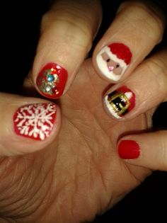 my best friend christmas nails by maralazdina from Nail Art Gallery