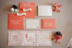 whimsical wedding invite