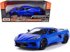 Rubber Tires, Diecast Model Cars, Chevrolet Corvette, Vehicles, Legends, Scale, Metallic, Blue, Exterior