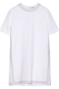 Edun Embroidered crepe tunic | NET-A-PORTER