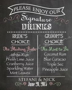 Watercolor Greenery leaf Signs,Rustic Wedding Signature drinks Sign With Pet,Boho Wedding Bar Menu Sign,Printable Cocktail Drinks Sign w dog