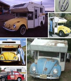 "Beetle MiniHome. VW Micro RV camper trailer. Sold as a kit by a small company in Irvine CA as the ""MiniHome"". Plans for this kit were offered by Robert Q. Riley Enterprises."