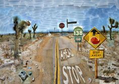 Pearblossom Highway, 11-18 April 1986 #1, by David Hockney. Collage de photos