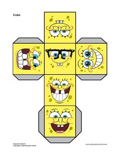 Cube+Net+Printable+Spongebob