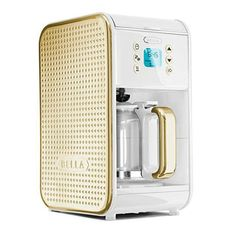 Bella's new Dots collection coffee maker is one of the chicest kitchen appliances we've come across. Click through to shop! | Lonny.com