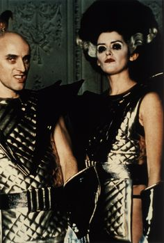Riff Raff & Magenta in their space suits; Rocky Horror.