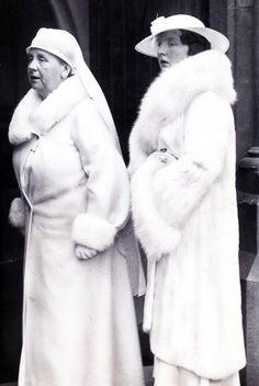 royal watcher  Queen Wilhelmina (Wilhelmina Helena Pauline Maria) (31 Aug 1880–28 Nov 1962)   Netherlands with daughter Crown Princess (and later Queen) Juliana (Juliana Louise Emma Marie Wilhelmina) (30 Apr 1909–20 Mar 2004) Netherlands.