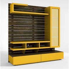 Home Center Preto Amarelo / Amarelo Com Iluminacao - 15366 - SunHouse