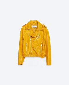 Steal: Angela Simmons's Instagram Zara Yellow Faux Leather Jacket