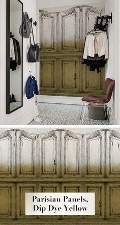 Parisian Panels, Dip Dye Yellow. Tapete | Fototapete | Moderne ...