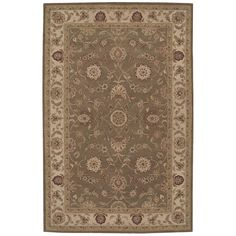 """Nourision HE09 5'6"""" x 8'6"""" Olive Area Rug"""