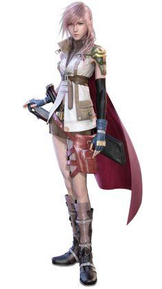 Lightning (ライトニング Raitoning) | Final Fantasy XIII | La protagonista principal y heroína de la historia. Es una joven habitante de Bodhum y miembro de La Guardia. Su verdadero nombre es Claire Farron.