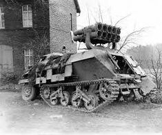 A abandoned Opel Maultier SdKfz 4/1 with Nebelwerfer system