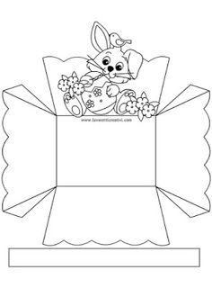 8 Cestinhas de Páscoa Fáceis de Fazer Para Imprimir - Blog Cantinho Alternativo Easter Art, Easter Crafts For Kids, Diy Crafts For Gifts, Creative Crafts, Bible Crafts, Paper Crafts, Pot A Crayon, Easter Coloring Pages, Diy Gift Box
