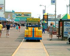 Wildwood New Jersey. Watch the tram car please