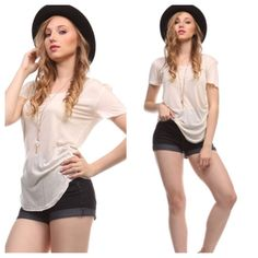 Chic top SALE Great soft tee comes in lots of colors PLEASED comment on the size you want and allow me to make you a personalized listing Tops