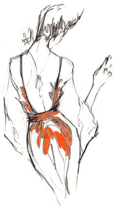 An Inslee sketch of a dress I've already pinned. I am going to attempt to start sketching now.