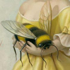 ≗ The Bee's Reverie ≗ bee illustration detail by Mark Ryden Illustrations, Illustration Art, I Love Bees, Mark Ryden, Arte Obscura, Bee Art, Bees Knees, Mellow Yellow, Color Yellow