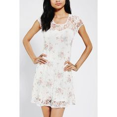 UO Lacey Floral Mini ✨ Final Price NWOT: White & floral print lacey sweetheart style dress from Urban Outfitters. I've never worn this dress! Ripped the tags off and then months later decided it was just a little too short for me! Urban Outfitters Dresses Mini