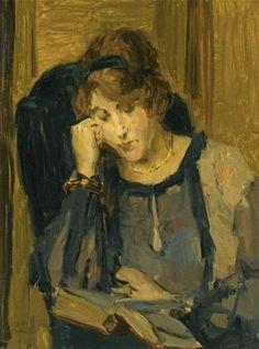 A woman reading, Isaac Israels. Dutch
