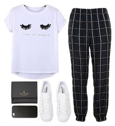 """Sparkle"" by anaaborges ❤ liked on Polyvore featuring Lanvin, Chicnova Fashion, adidas Originals and Kate Spade"