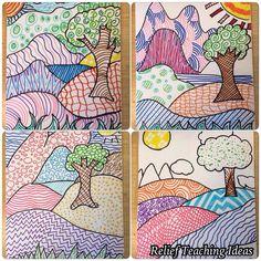 Art Sub Lessons: Patterned Landscapes