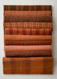 Mary Flanagan  Mini Textured Felted Wool Bundles  Red Earth