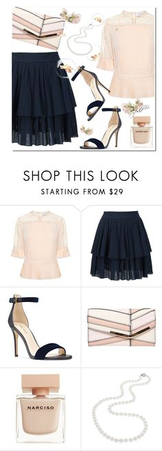 """Pearl"" by paperdolldesigner ❤ liked on Polyvore featuring Tanya Taylor, Sophie Theallet, Nine West, Dorothy Perkins, Narciso Rodriguez and Nadri"