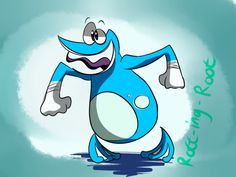 rott-ing-root:  I really love Globox's design in Rayman Origin's!!The cute blue frog aside from Greninja ouoHey look, I drew something 8P