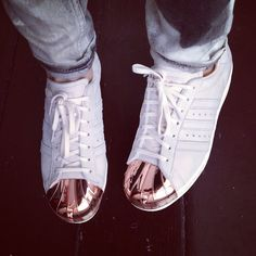 "SOOOO in love with MY ADIDAS!!! Adidas Originals Superstar 80′s ""Metal Toe"""