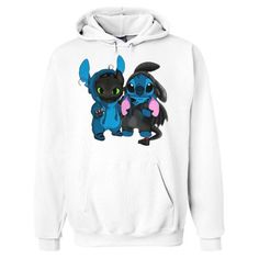 Buy Baby Toothless and Baby Stitch Hoodie This hoodie is Made To Order, one by one printed so we can control the quality. We use newest DTG Technology to print on to Baby Toothless and Baby Stitch Hoodie Baby Toothless, Toothless And Stitch, Lilo And Stitch Quotes, Lilo Ve Stitch, Disney Stitch, Stitch Hoodie, Cute Disney Outfits, Cute Stitch, Hooded Sweatshirts