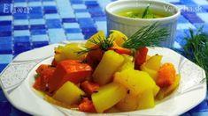 Tekvica so zemiakmi s kôprovou omáčkou (fotorecept) - recept   Varecha.sk Fruit Salad, Veggies, Food, Fruit Salads, Vegetable Recipes, Vegetables, Essen, Meals, Yemek
