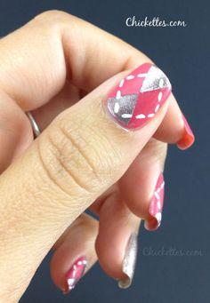 Chickettes.com:  Argyle Nail Design