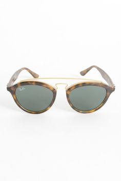 Ray-Ban Luxottica Tortoise Round Plastic & Metal Bridge Sunglasses | South Moon Under
