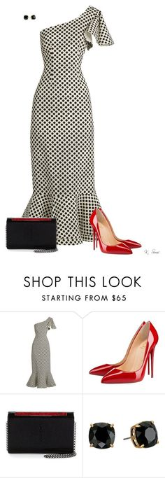 """""""CFMP's"""" by ksims-1 ❤ liked on Polyvore featuring Saloni, Christian Louboutin and Tory Burch"""