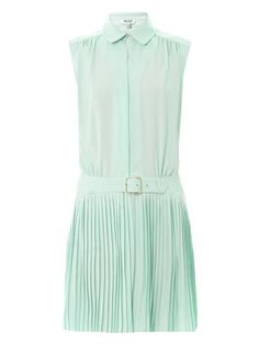 50% off. Love this shirt dress. It's gorgeous. Pleated-skirt sleeveless dress | Kenzo | MATCHESFASHION.COM
